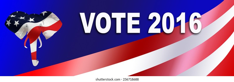 Republican bumper sticker for the 2016 Presidential election in the USA, with room to add Candidate name.