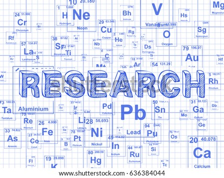 Research Word On Periodic Table Symbols Stock Illustration 636384044