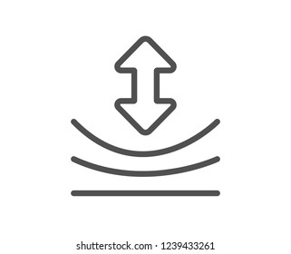Resilience line icon. Elastic material sign. Quality flat web app element. Line design Resilience icon.