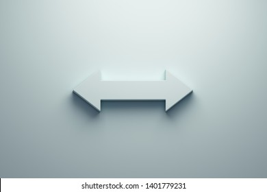 Resize arrow light blue color. 3D icon rendering illustration