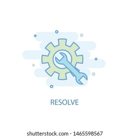 resolve line concept. Simple line icon, colored illustration. resolve symbol flat design. Can be used for UI/UX