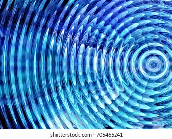 Resonate ,spread, vibration or ripple abstract in blue.