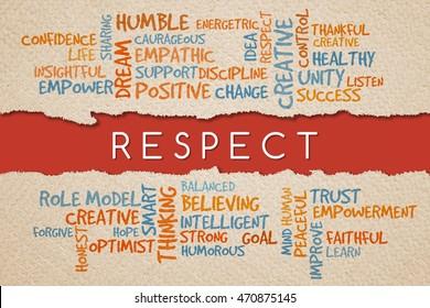 Respect, business management value/motivational concepts