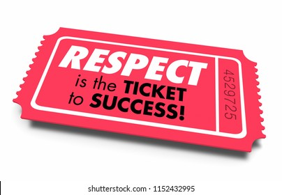 Respect Reputation Ticket to Success 3d Illustration