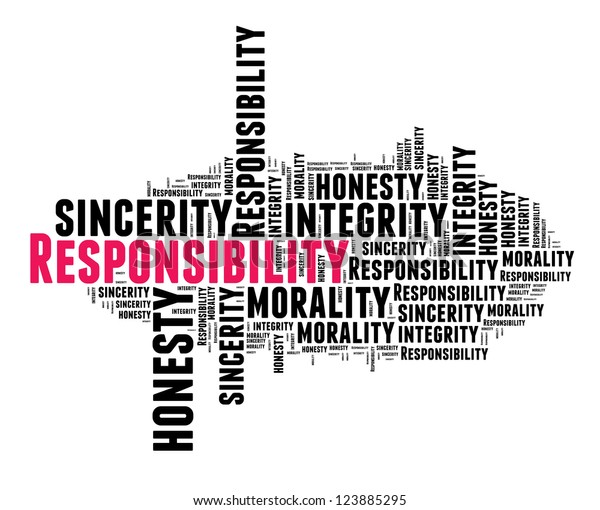 Responsibility Word Cloud Stock Illustration 123885295