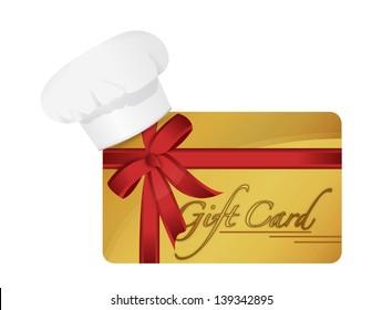 restaurant gift card illustration design over a white background