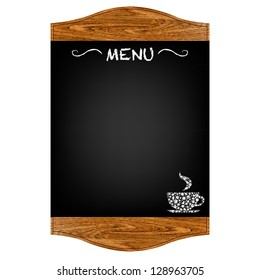 Restaurant Menu Board, Isolated On Red Background