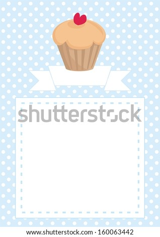 Restaurant menu template wedding card list stock illustration restaurant menu template wedding card list or baby shower invitation with sweet cupcake with maxwellsz