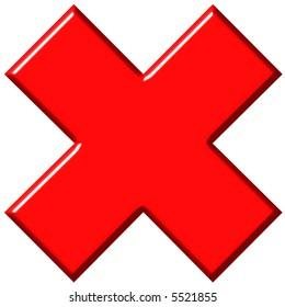 Big Red X Stock Illustrations Images Vectors Shutterstock
