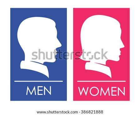Restroom Men Women Symbol Stock Illustration 386821888 Shutterstock