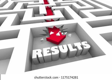 Results Outcome Goal Success Maze 3d Illustration