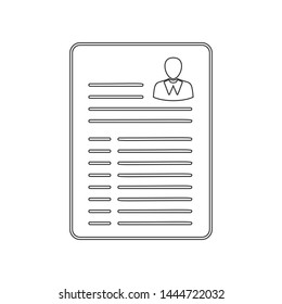 Resume icon. Element of HR for mobile concept and web apps icon. Outline, thin line icon for website design and development, app development