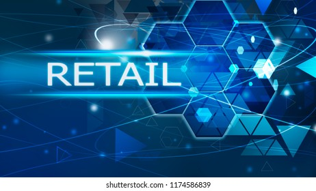 Retail background abstract blue concept solution