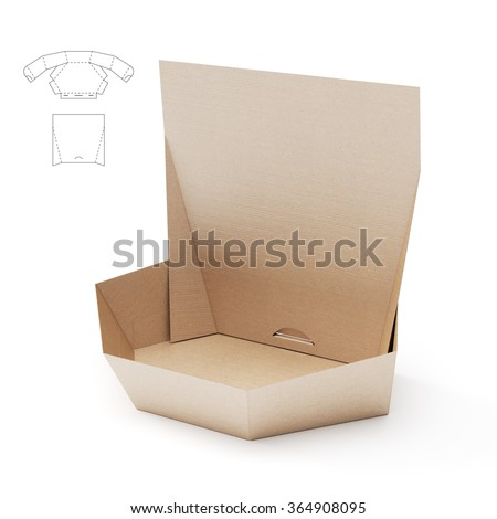 Retail Hexagonal Custom Box Counter Display Stock Illustration