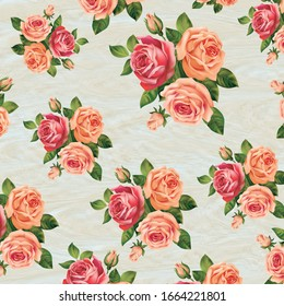 Retro blooming flower pattern in the many kind of florals. Botanical Motifs,For fashion prints.