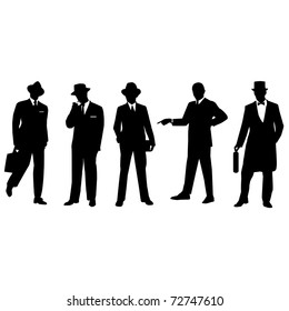 Retro business people.Vector