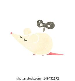 retro cartoon clockwork mouse