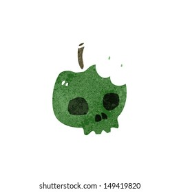 retro cartoon poison apple
