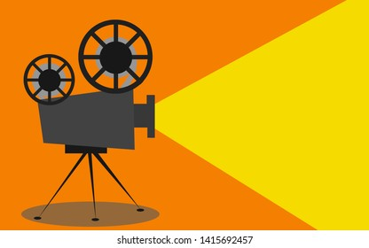Retro cinema projector with text place, 3D rendering