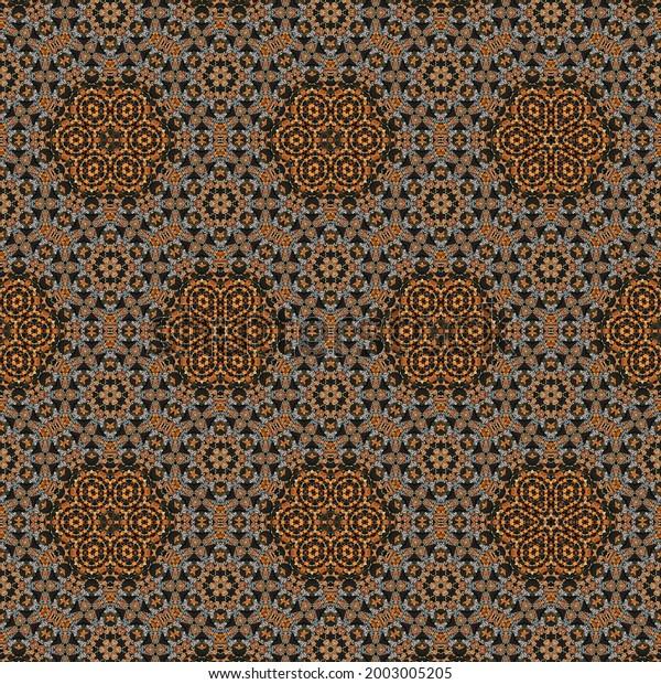 Retro folk pattern design for turkish carpet and rug printing