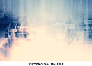 Retro Futuristic Technology Background