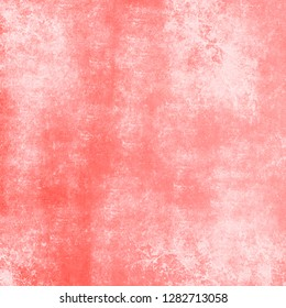 Retro grungy texture background in ptrend living coral color
