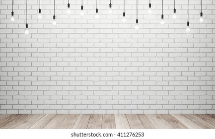 White Brick Wall Lamps High Res Stock Images Shutterstock