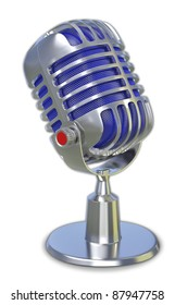 retro microphone 3d