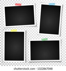 Retro photo frame with shadows.