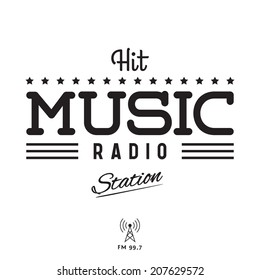 Retro Poster for Hit Music Radio Station