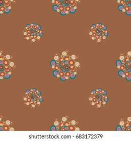 Retro Seamless Colorful Dots Pattern Ideal For Printing Onto Fabric And Paper Or Decoration