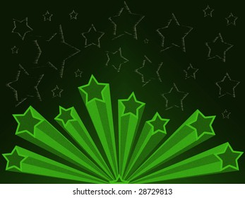 Retro style background illustration with stars. Lots of space for copy. Ideal for yearbook university college or high school posters.