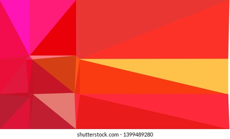 retro style triangle illustration. crimson, pastel orange and deep pink colors. for poster, cards, wallpaper design or backdrop texture.