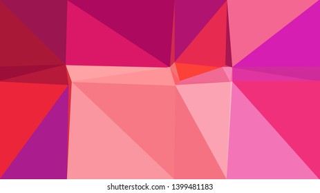 retro style triangle illustration. pale violet red, medium violet red and crimson colors. for poster, cards, wallpaper design or backdrop texture.