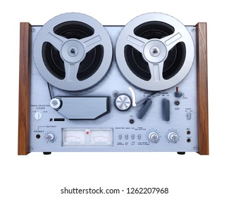 Retro tape recorder. Video game art. 3d rendering