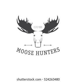 vector illustration hand drawn elk moose stock vector royalty free