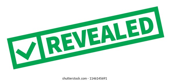 Revealed typographic stamp, sign, label Green check series