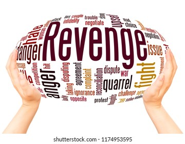 Revenge word cloud hand sphere concept on white background.