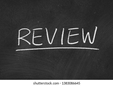 review concept word on a blackboard background