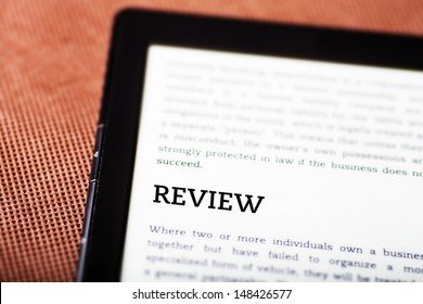 Review on ebook, tablet pc concept