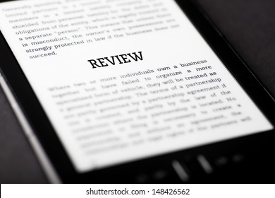 Review on tablet pc touchpad, ebook concept