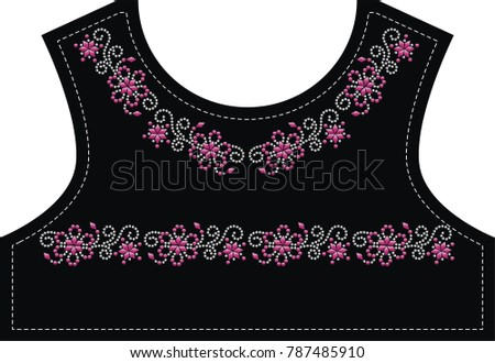 Rhinestone applique design hotfix transfer embellished stock