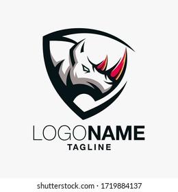 rhino logo design art illustration