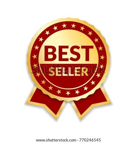 ribbon award best seller gold ribbon stock illustration 770246545