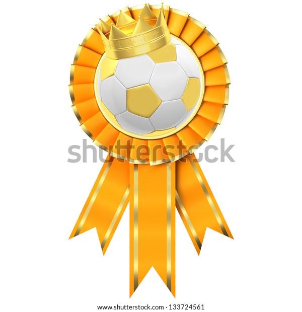 Ribbon Award with a football symbol