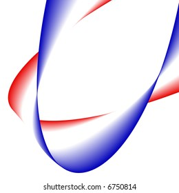 a ribbon with a blue, white and red color gradient