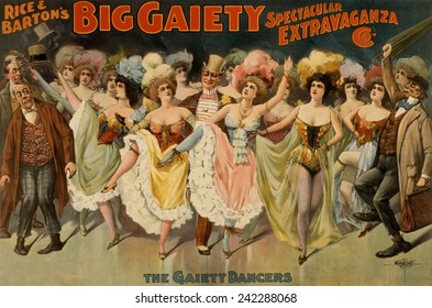 Rice and Barton's 'Big Gaiety Spectacular Extravaganza Company.' 1899 Poster
