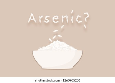 Rice bowl and the word arsenic