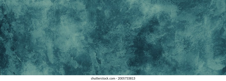 Rich dark blue green background texture, marbled stone or rock textured banner with elegant mottled dark and light blue green color and design