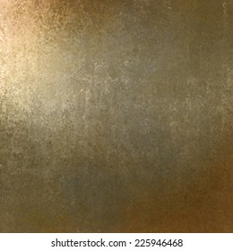 rich pale gold brown background with grunge texture border, light bright corner spotlight or sunshine pattern on wall. vintage shadow black frame design, old distressed shabby background layout